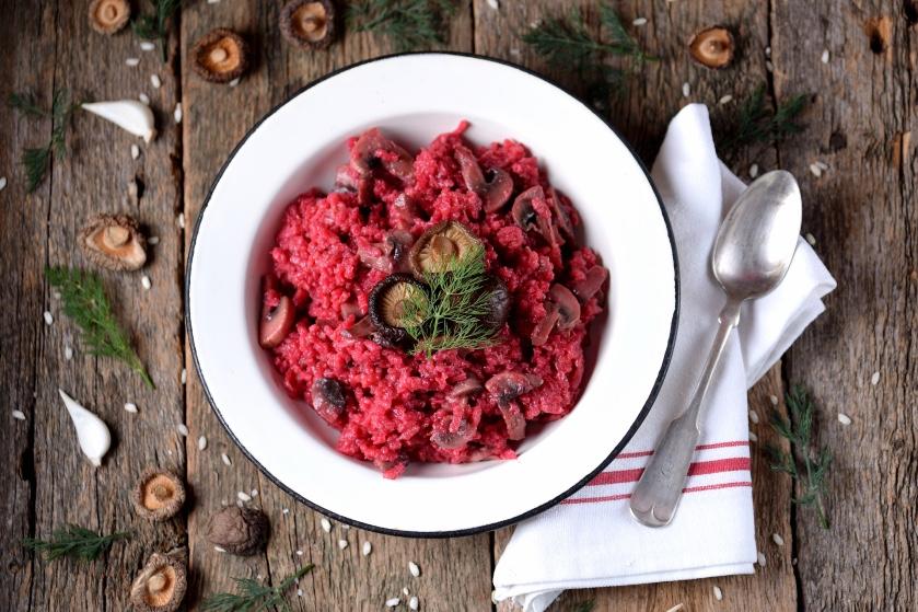 Recept voor een heerlijk én gezond diner: rode bieten risotto