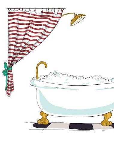 Het douchegordijn als nieuw