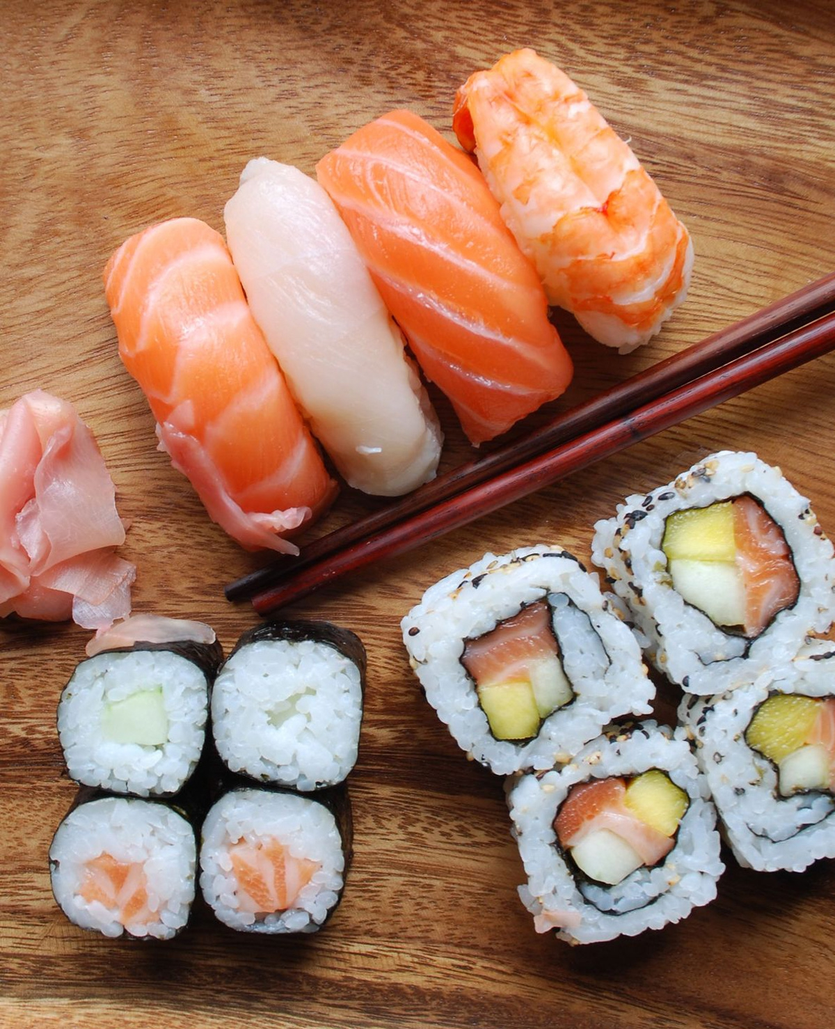 Op deze manier hoor je sushi te eten