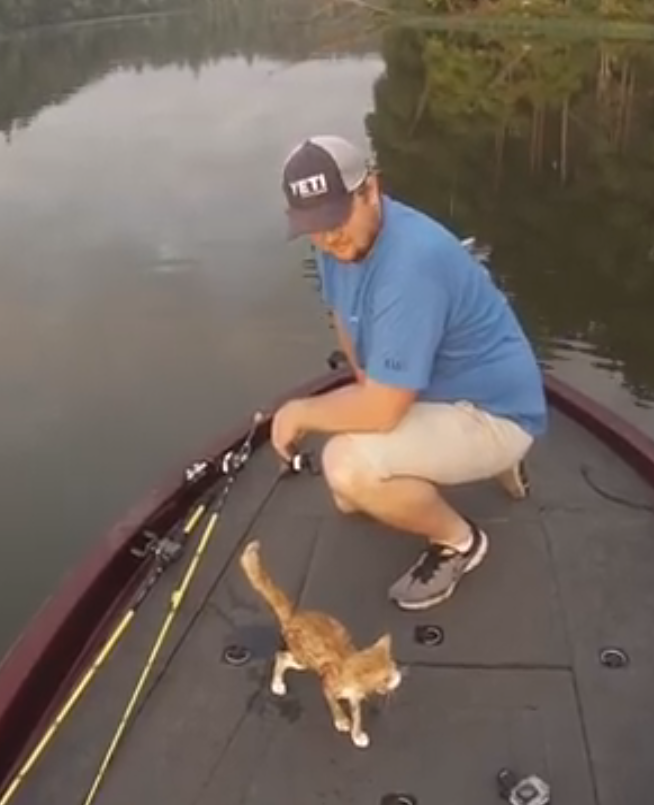 Een bijzondere vangst tijdens een dagje vissen