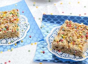 Traktatie | Rice crispie koekjes