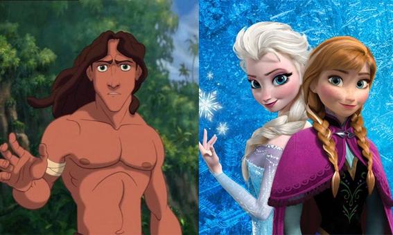 WAT?! Tarzan is de broer van Anna en Elsa uit Frozen