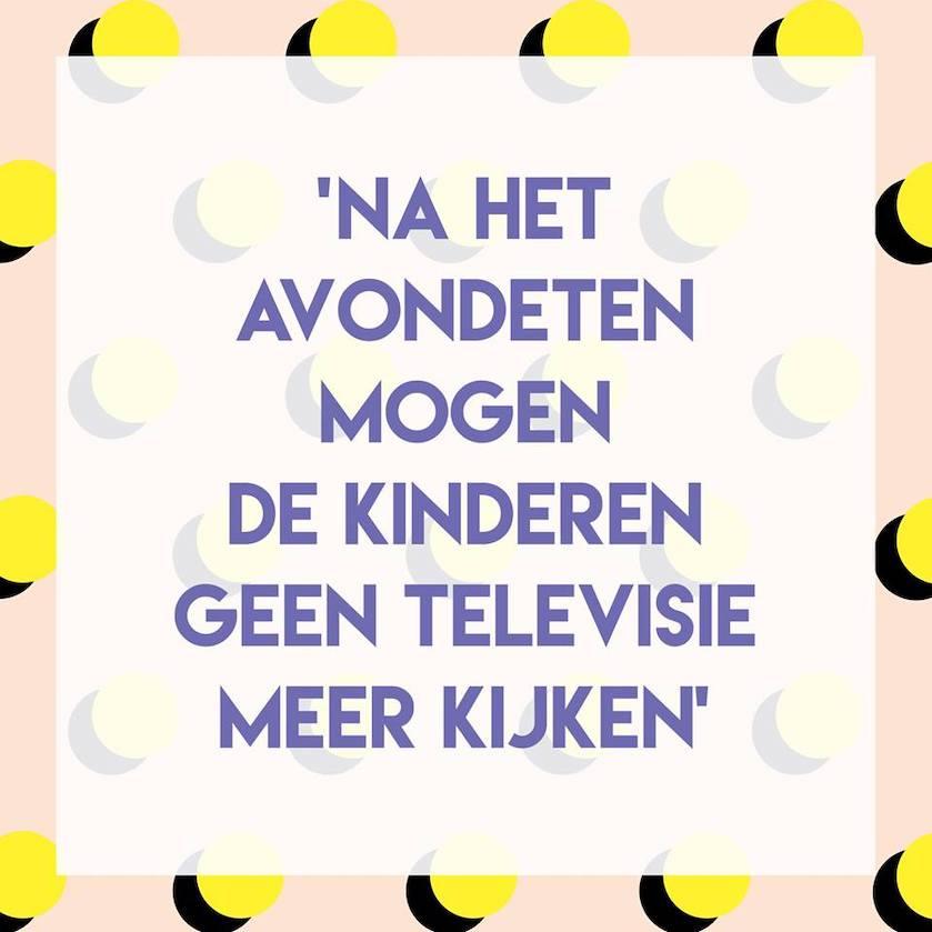 Stelling kinderen avondeten televisie