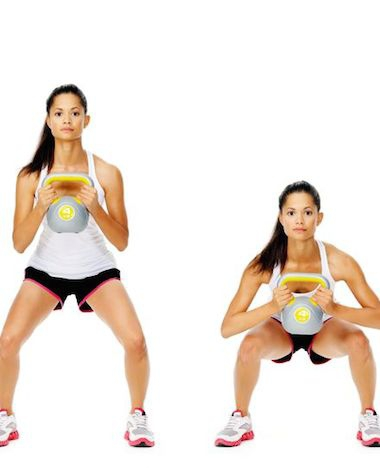 3x sporten met een kettlebell