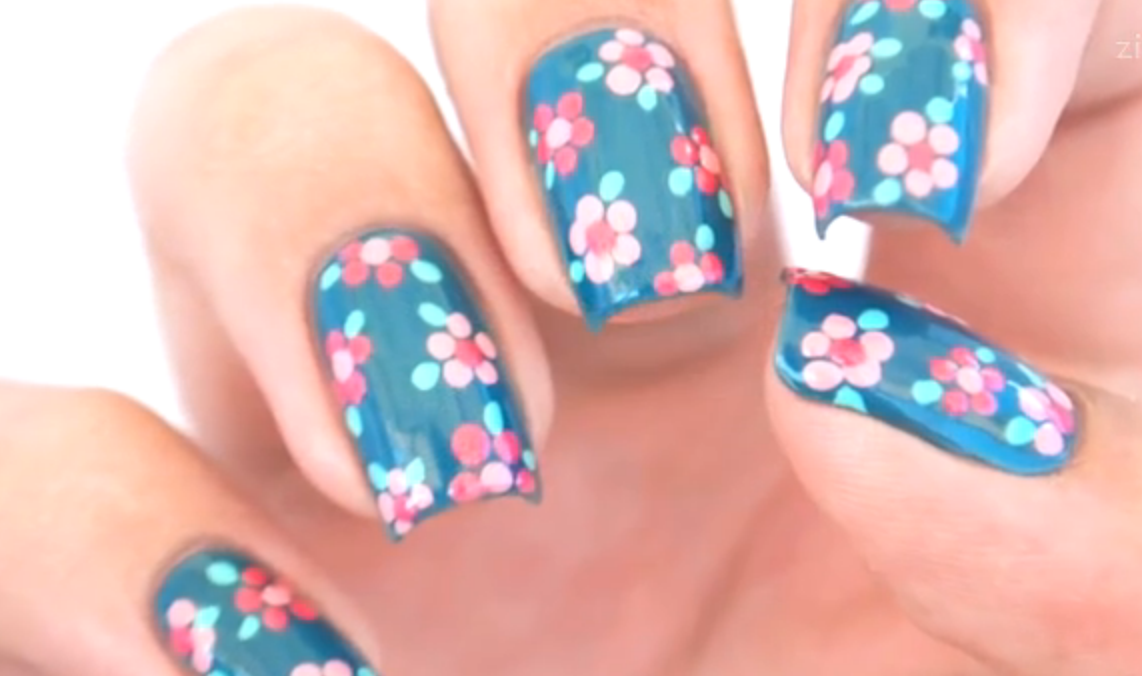 DIY: Lentenagels met bloemen