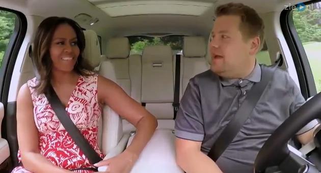 Zien: De First Lady zingt liedjes in de nieuwste Carpool Karaoke!