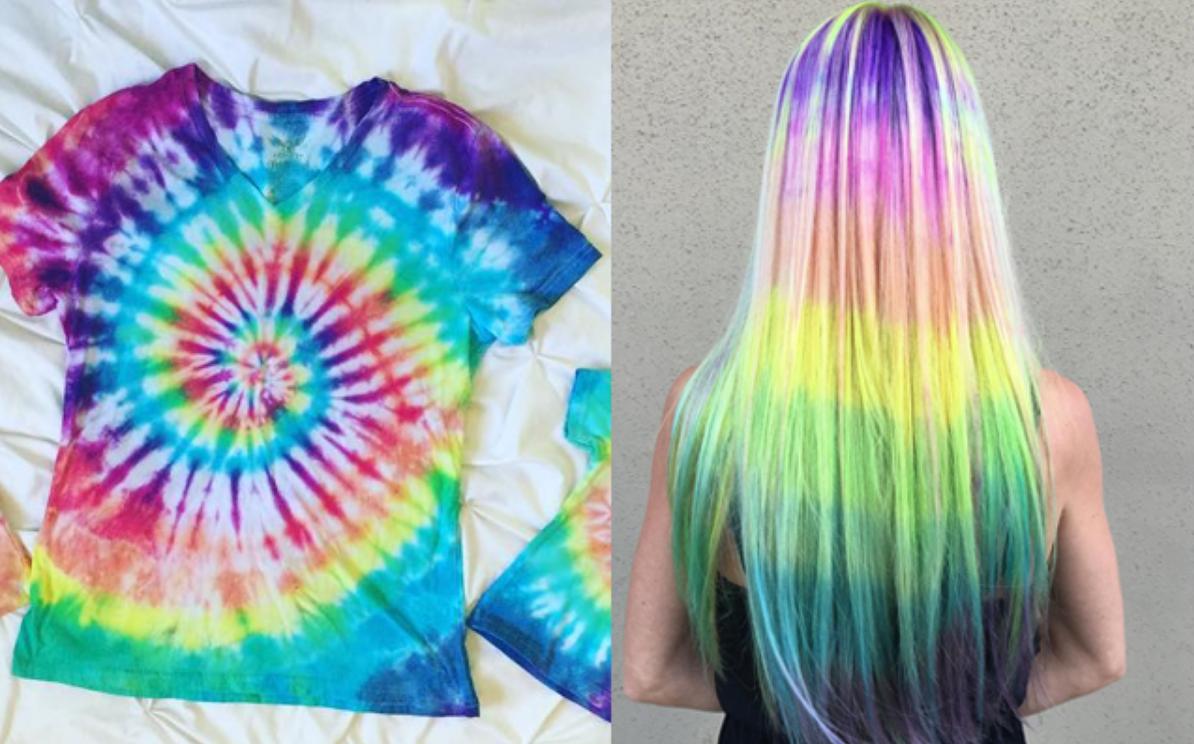 Gespot op Instagram: hair marbling, oftewel: tie-dye voor je haar