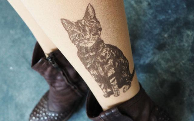 WOW: deze panty's lijken op échte tattoos