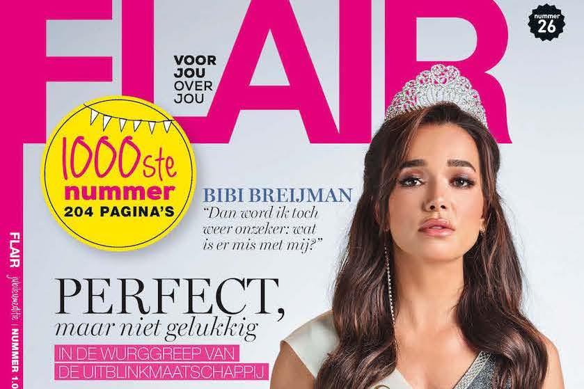 Het 1000ste nummer van Flair mét Bibi Breijman: 'Perfect, maar niet gelukkig.'