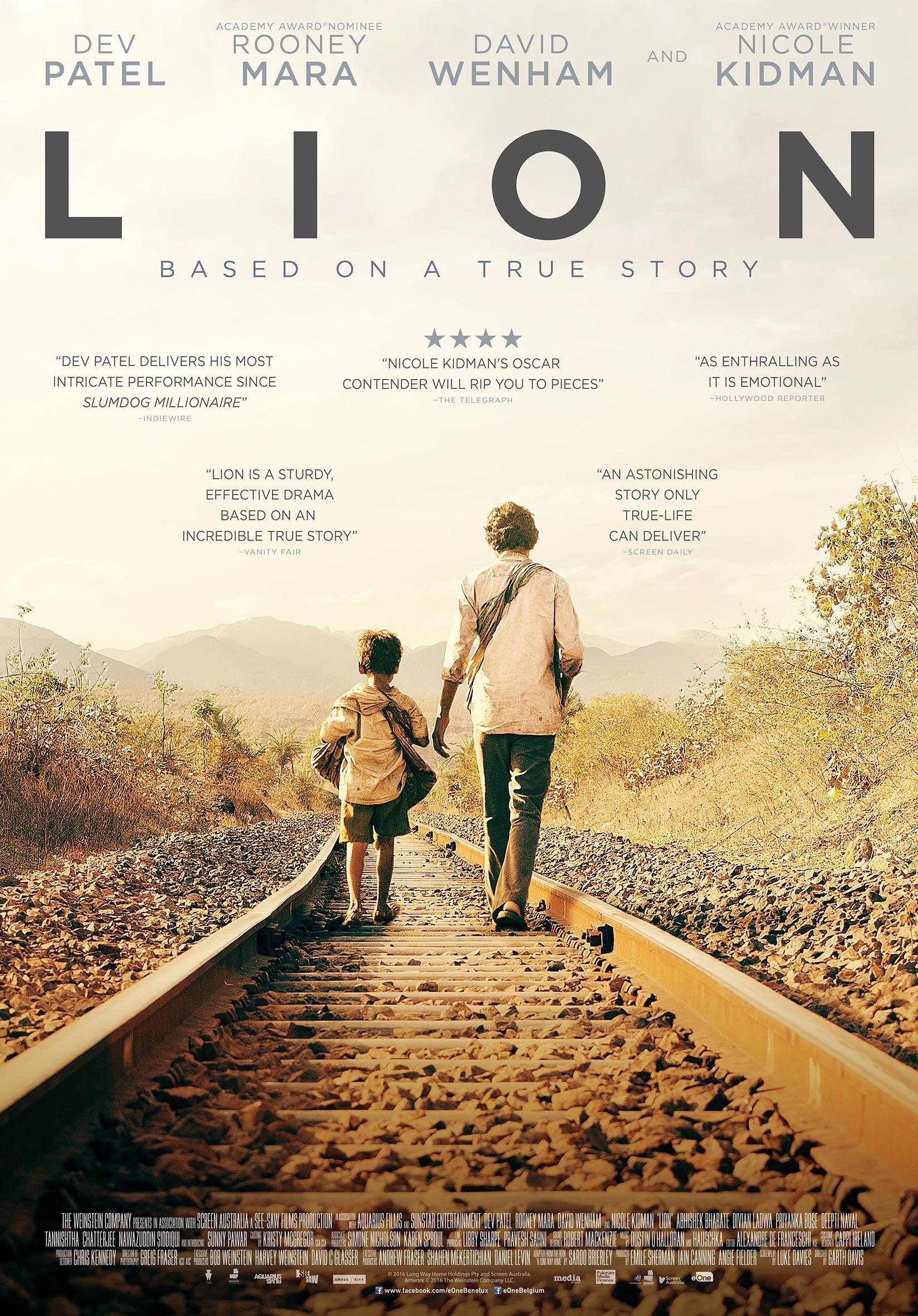 Win! Vrijkaartjes voor de film 'Lion' met Nicole Kidman en Dev Patel!
