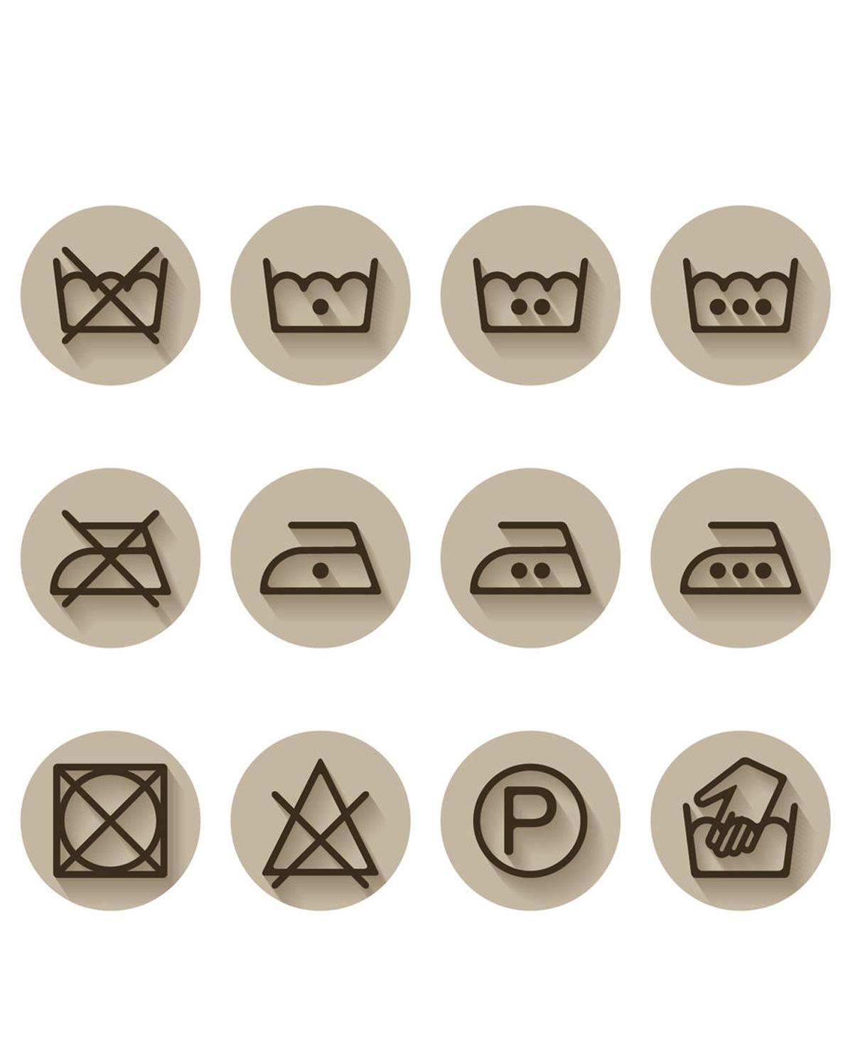 Wassymbolen, wat betekenen ze?