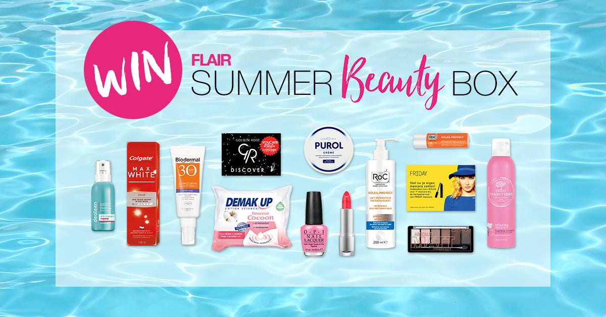 WINACTIE: handige box met zomerse beauty producten