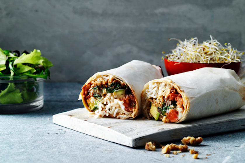 Nationale Week Zonder Vlees – recept: zwarte bonen & geitenkaas burrito's