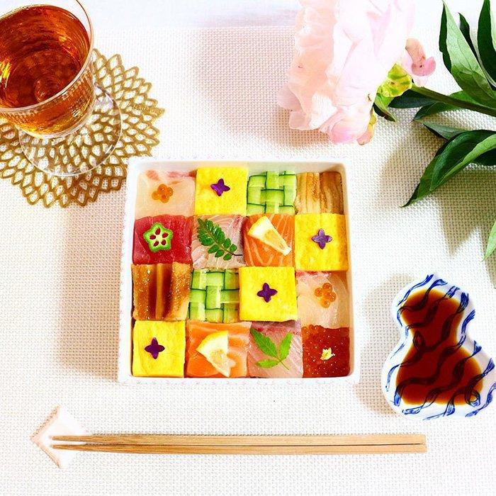 Zien: deze sushi mozaïek is te mooi om waar te zijn!