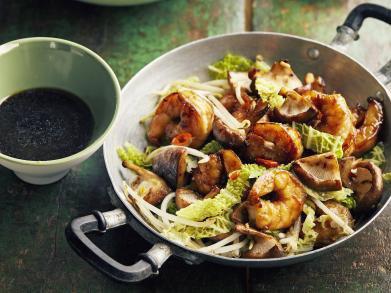 Recept: Scampi in de wok met teriyakisaus