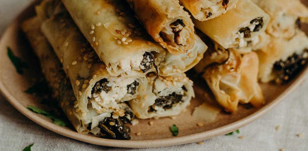 Gek op groen: Filodeegrolletjes met spinazie en vegan feta