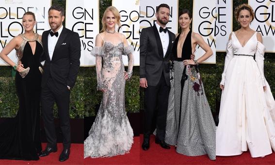 Golden Globes 2017: Diepe decolletés, gouden accenten en romantiek op de rode loper