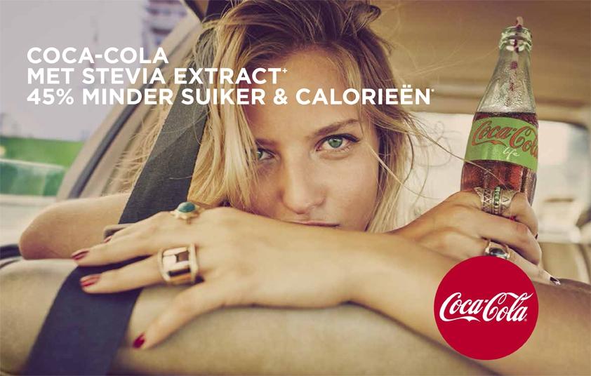 Health lovers opgelet, hier is <br> Coca-Cola life!