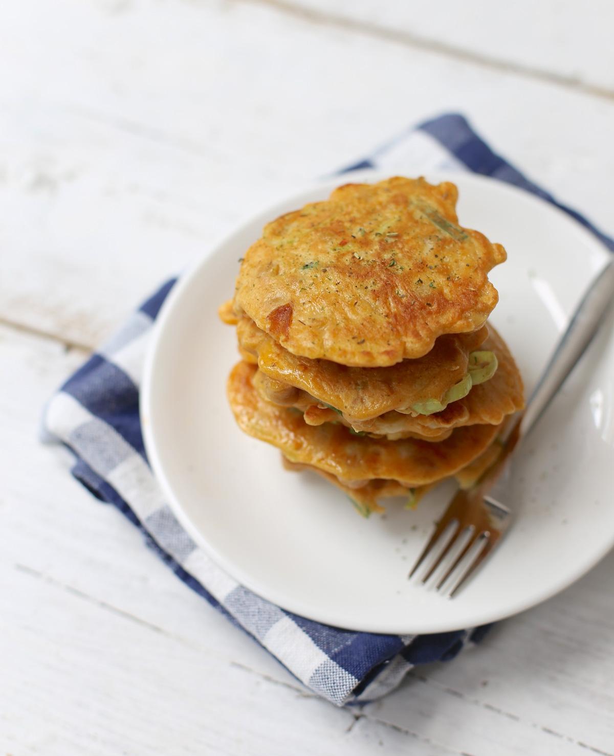 Hartige prei-kikkererwten pannenkoekjes