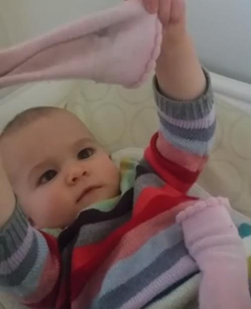 Baby zegt 'sok'