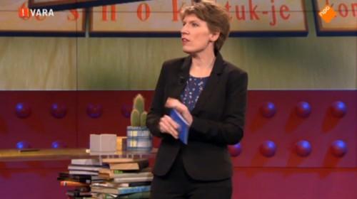 Paulien Cornelisse maakt taalfout tijdens taalcollege 'DWDD Summerschool'