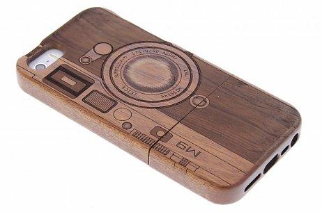 donkerbruin-houten-hardcase-hoesje-met-print-voor