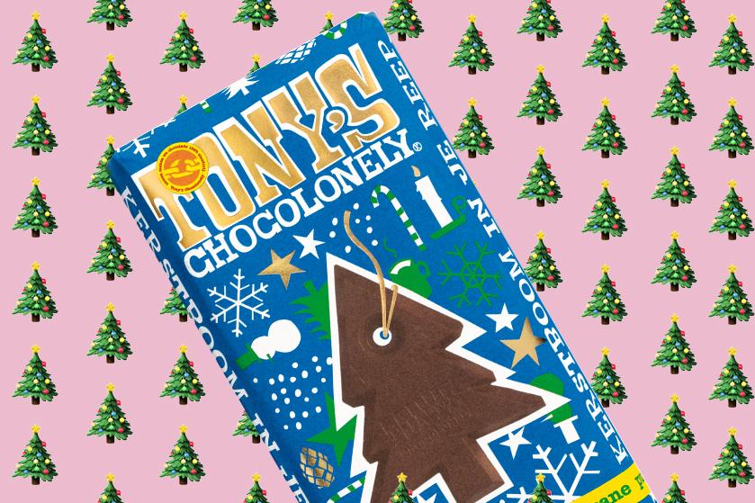 Flair's Adventskalender #14: win 10x de unieke kerstreep van Tony's Chocolonely