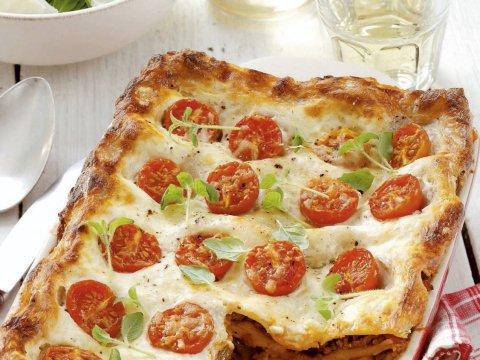 Recept: lasagne met kerstomaatjes
