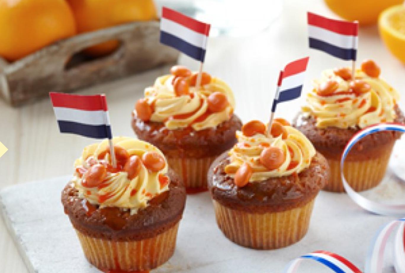 Recept: oranje cupcakes voor Koningsdag