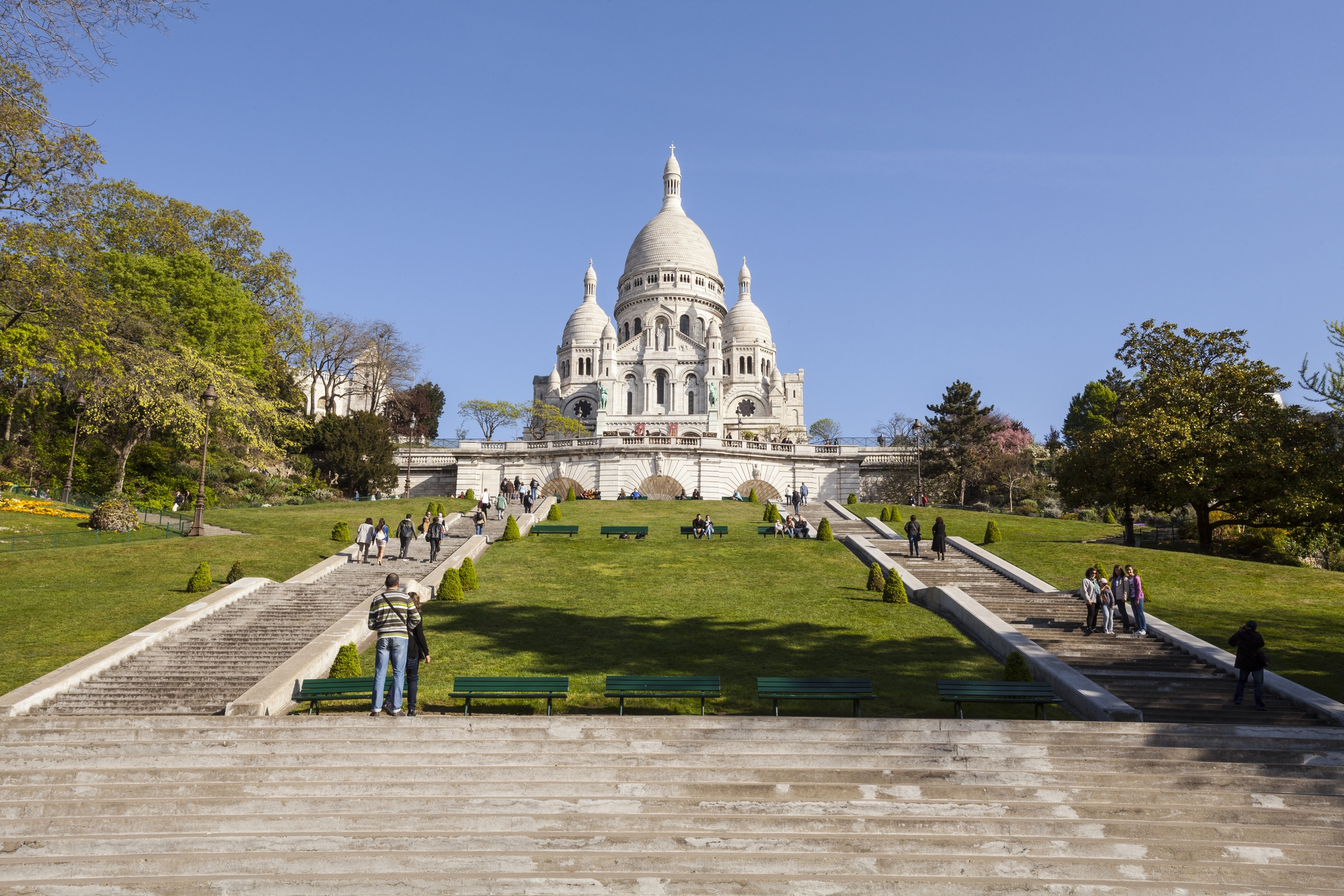 Sacre Coeur in the Montmartre area of Paris.