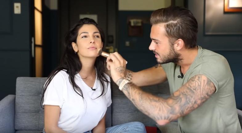 Zien: Dave Roelvink doet make-up van Anna Nooshin