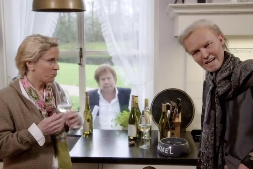Fans speculeren erop los: niemand lijkt te zien wie Martien Meiland imiteert in 'De TV Kantine'
