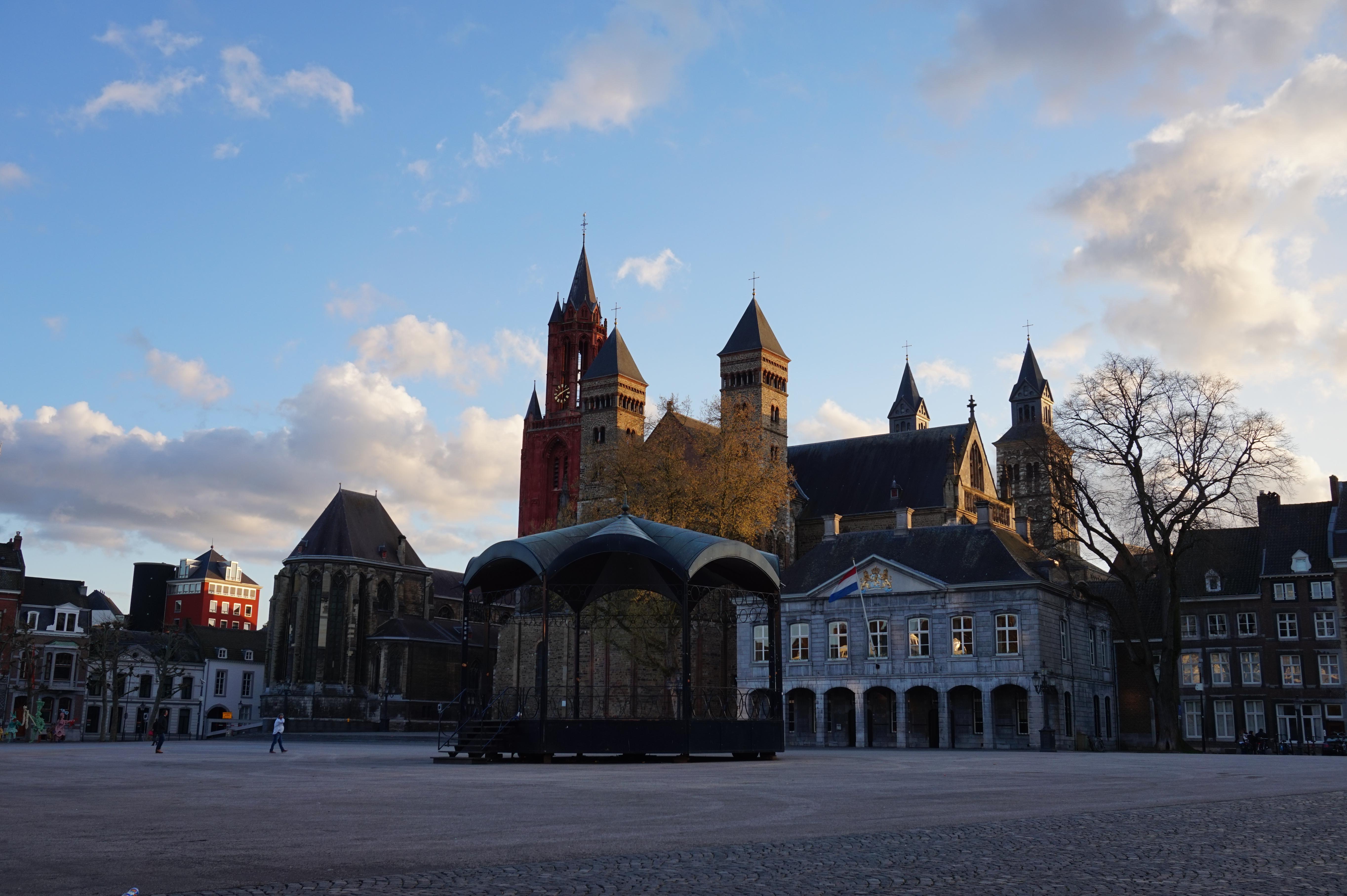 Vrijthof Square at Dusk, Maastricht, the Netherlands