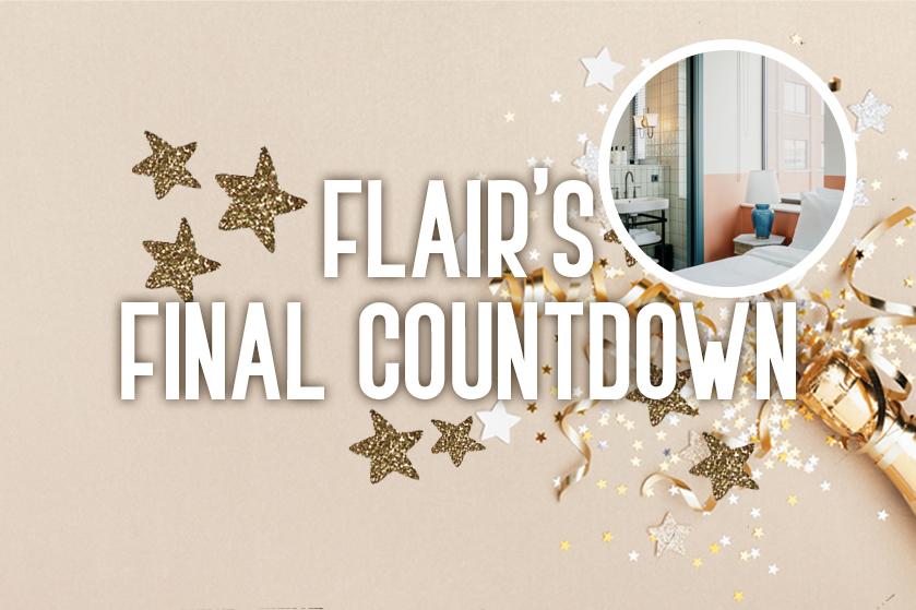 Flair's Final Countdown 2020 #5: win overnachting bij BOAT&CO én diner voor 2 bij Vessel in Amsterdam