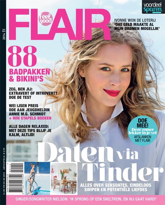 In het blad   Flair 21