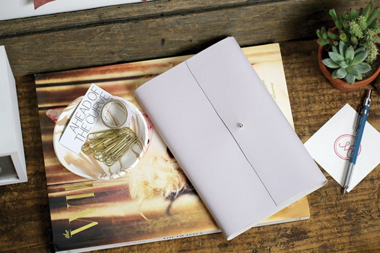 DIY | notitieboek cover van leer