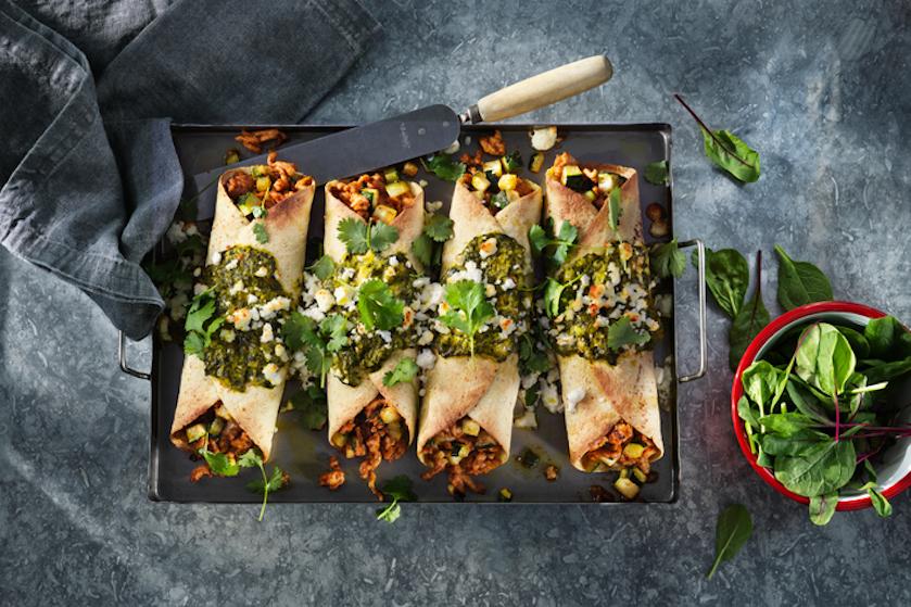 Ultiem comfort food: recept voor enchilada's met spinazie en kip