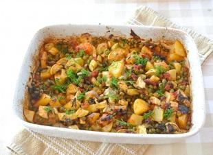 Griekse groenteschotel uit de oven