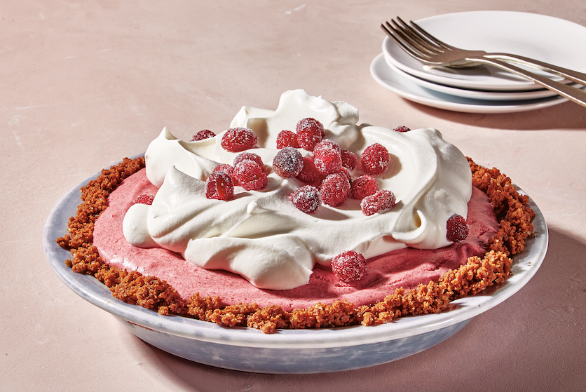 Culinair hoogstandje: Pie met cranberry- granaatappelmousse