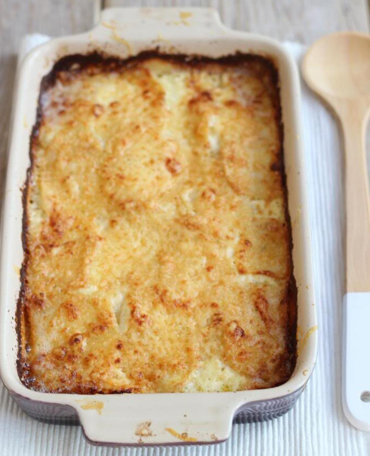 Romige ovenschotel met zalm en aardappel