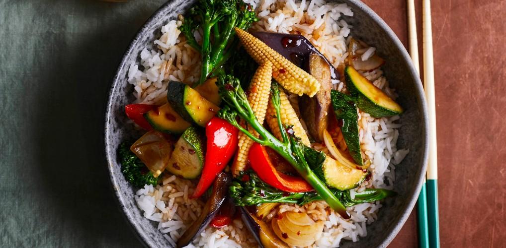Rock the wok: vegetarische teriyaki bowl