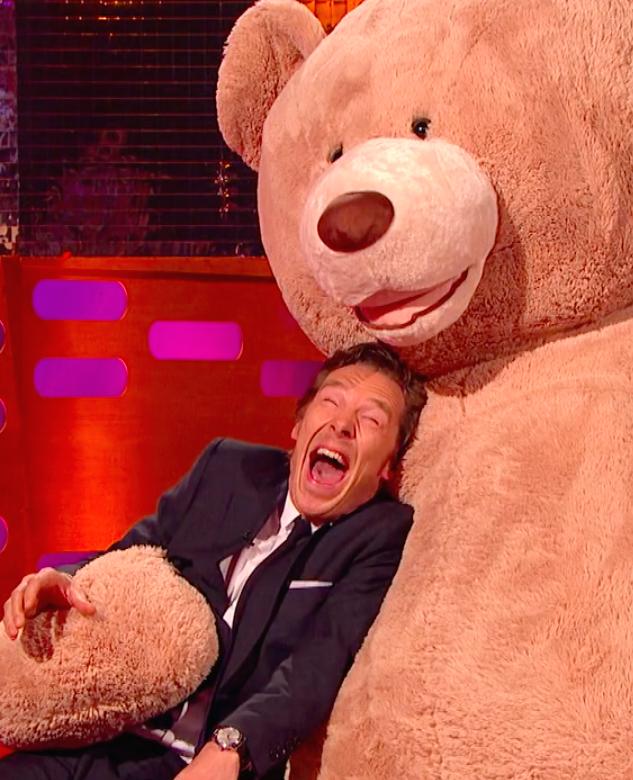 Acteur Benedict Cumberbatch lijkt sprekend op een otter
