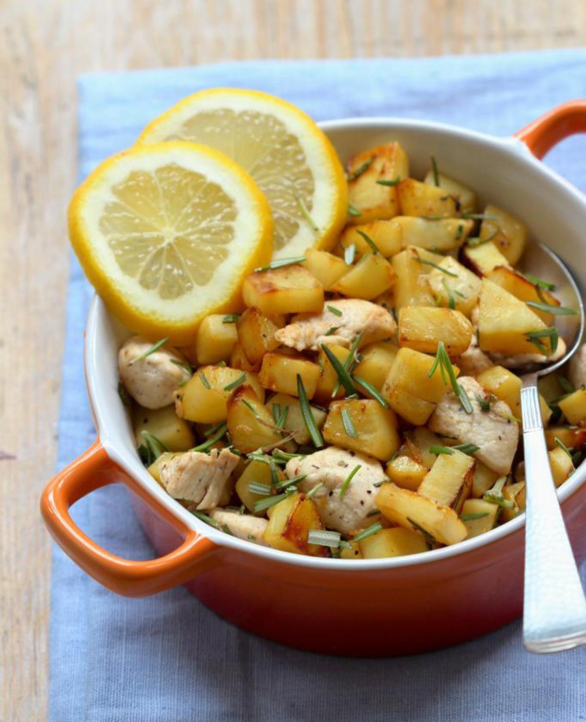 Honingkip met zoete aardappel