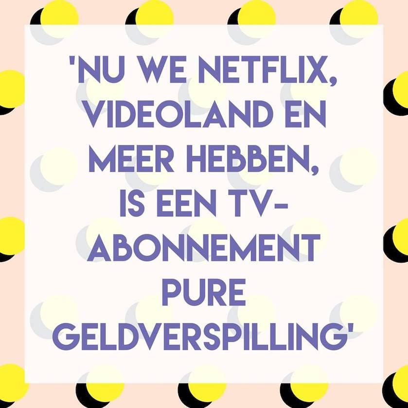 Stelling een soneens Netflix tv abonnement