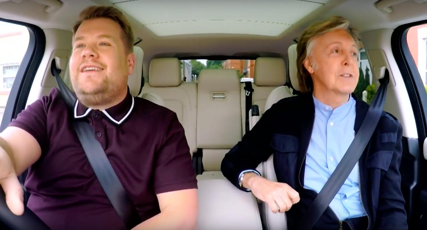 Deze Carpool Karaoke met Paul McCartney moet je even zien