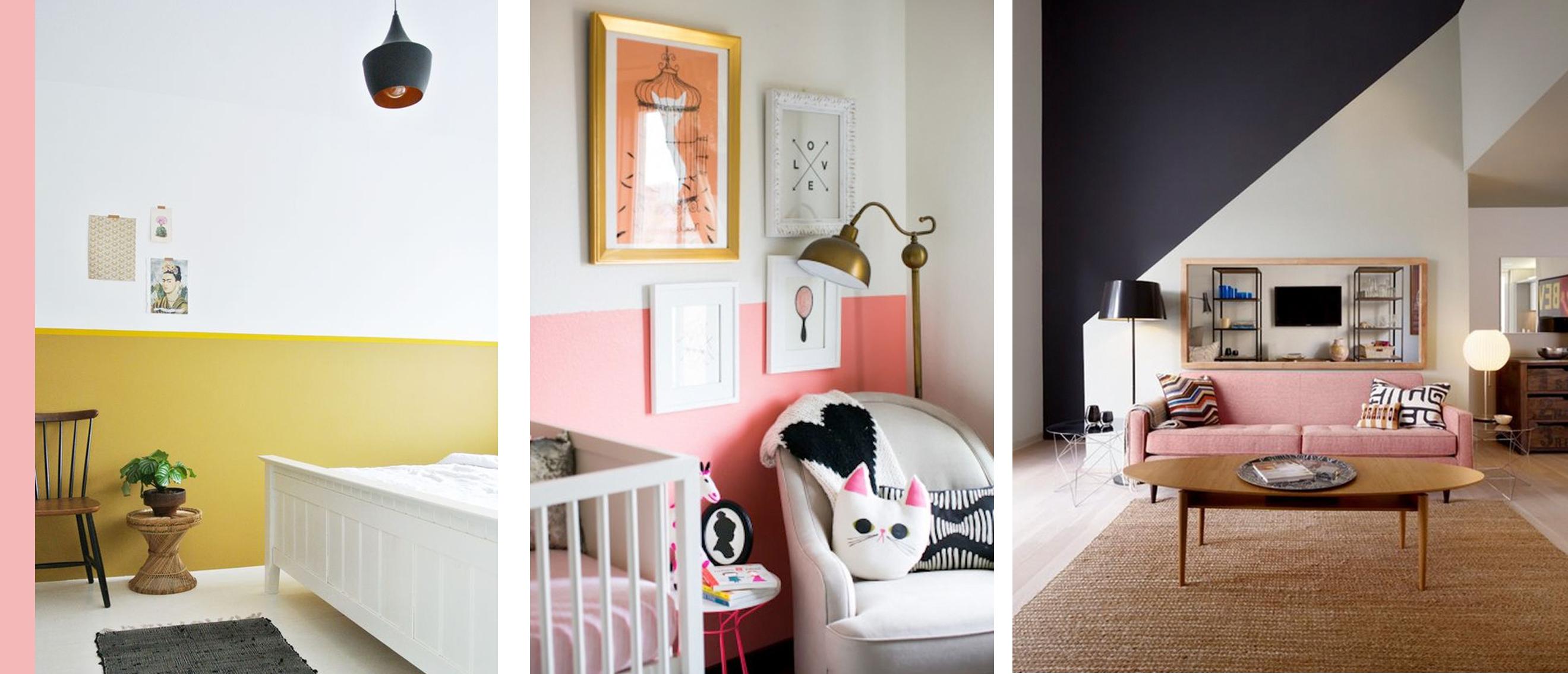 Pinspiration: half geschilderde muren voor een interieur met een twist!
