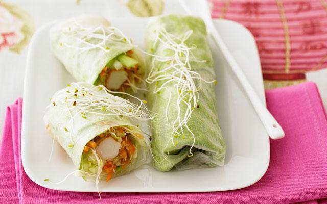 RECEPT: Surimi spring rolls