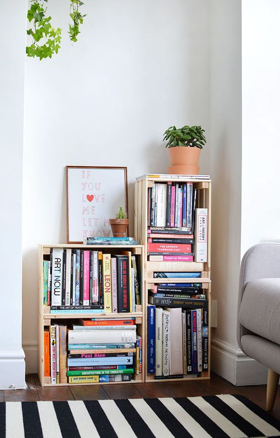 Pinspiration: 13x originele manieren om je boeken op te bergen