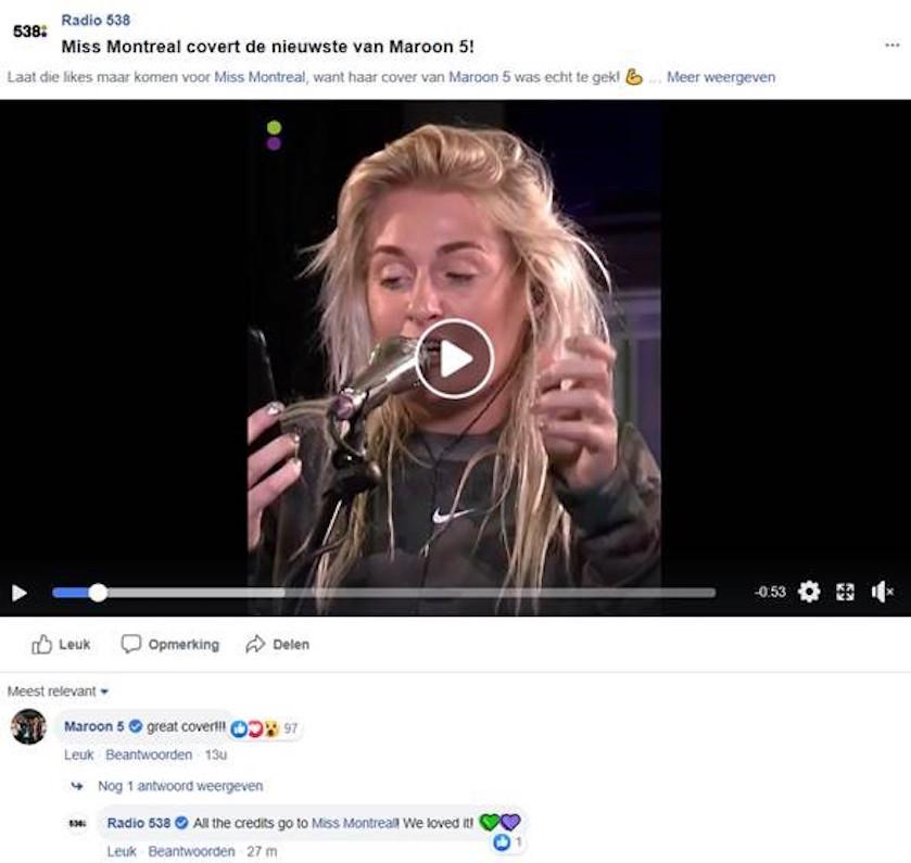 Hoe Tof Wereldband Maroon 5 Onder Indruk Van Onze Miss Montreal
