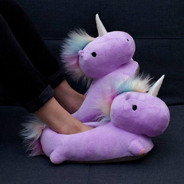 Koukleumpjes opgelet: deze unicornsloffen verwarmen je voeten